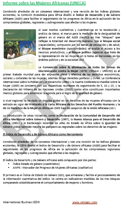 Informe mujeres africanas