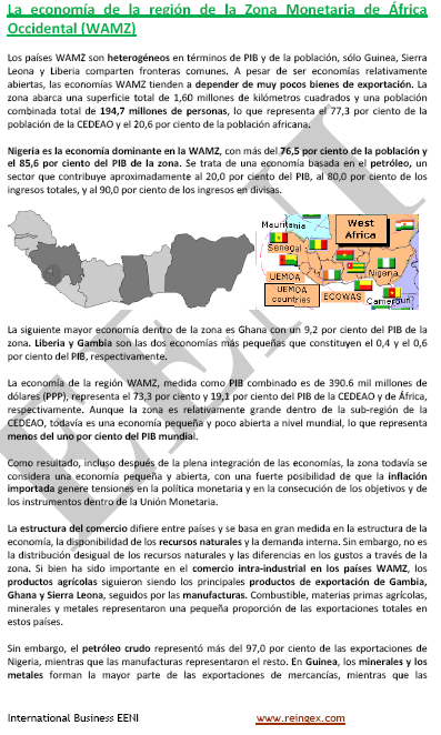 Zona Monetaria de África Occidental (Curso ZMAO)
